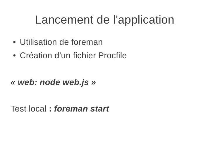 publier une application node sur heroku