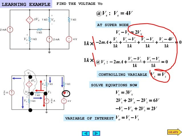 nodal analysis Answer: c explanation: number of equations=n-1= 7 so as there are 8 nodes in network, we can get 7 number of equations in the nodal analysis.