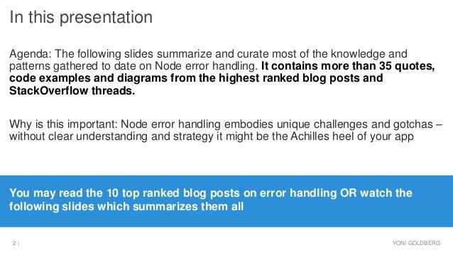 Node.JS error handling best practices Slide 2