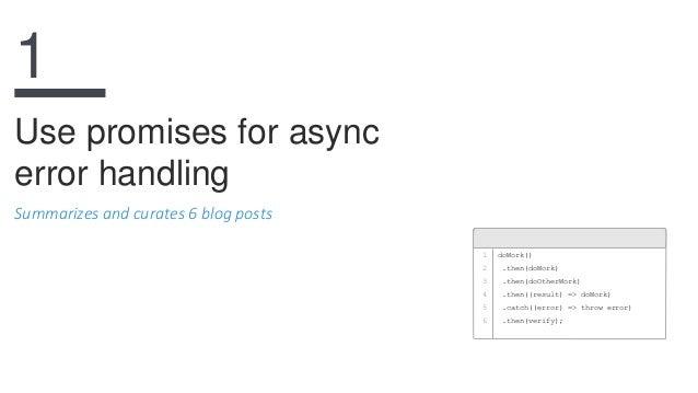 Node.JS error handling best practices Slide 3