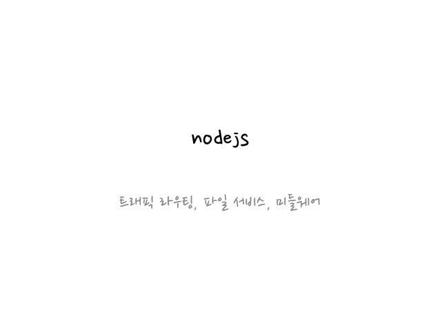 nodejs 트래픽 라우팅, 파일 서비스, 미들웨어