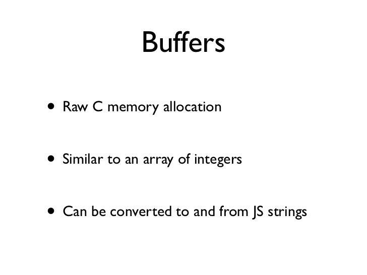 Node js - As a networking tool