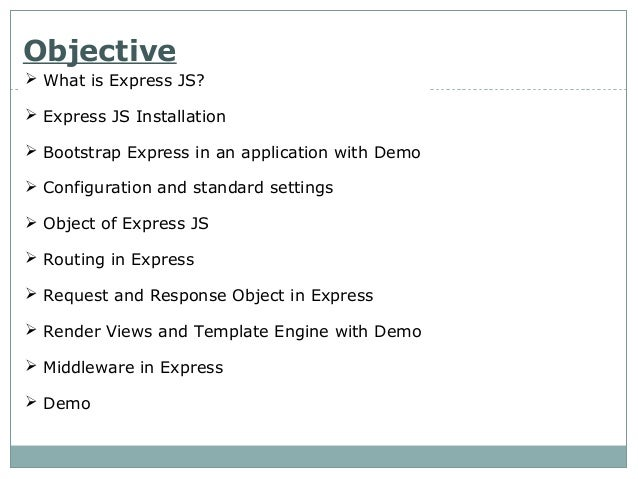 Node js Express Framework