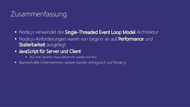 Kuck mal, Node js! Einstieg für  NET Entwickler mit Visual
