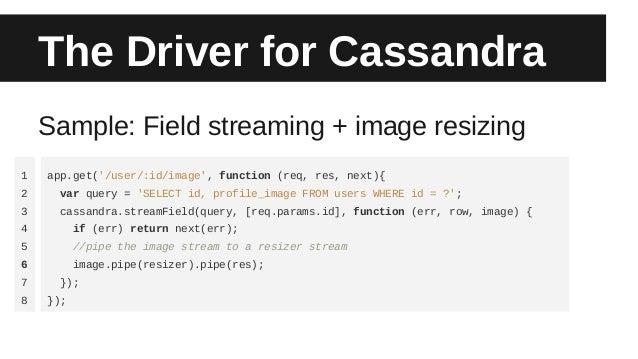 Node js and Cassandra