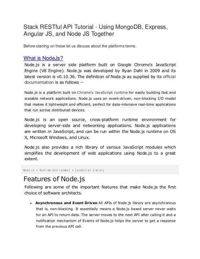 Node Js, AngularJs and Express Js Tutorial