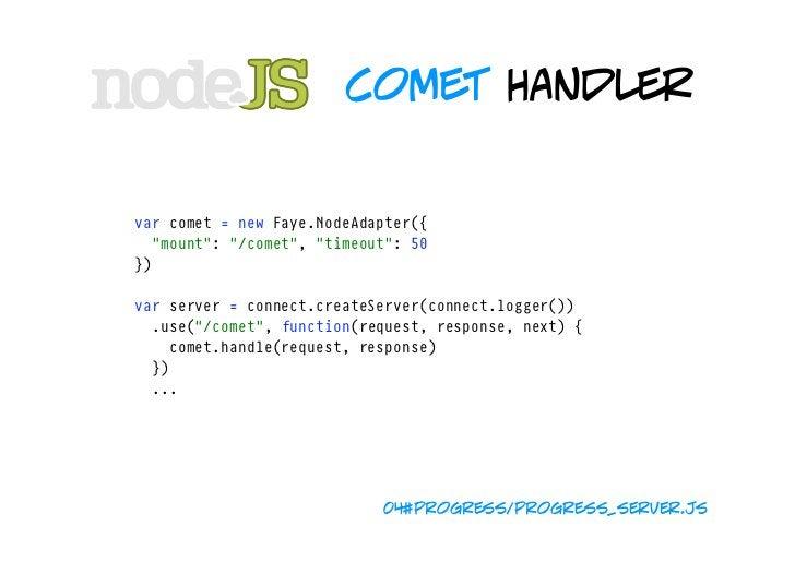 "spawn handler varclient=comet.getClient(),jobCounter=0  varserver=connect.createServer(connect.logger()) .use(""..."