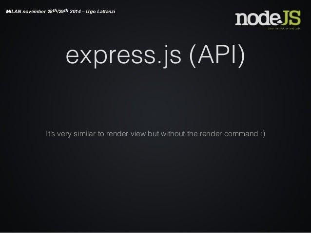 Nodejs for  NET web developers