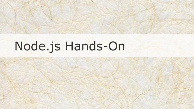 Node.js Hands-On