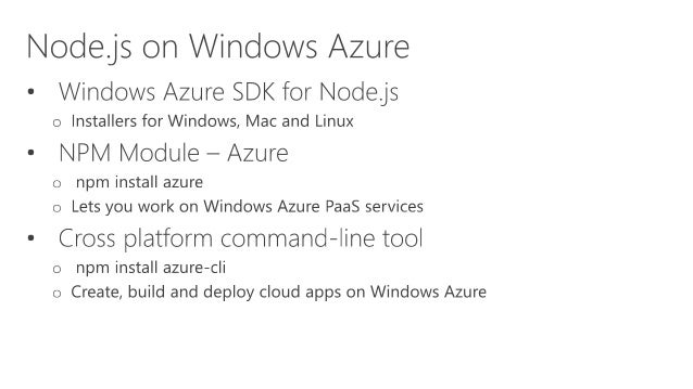 Reading Azure Storage Table var azure = require('azure');