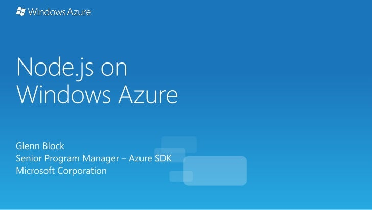 Node js on Windows Azure