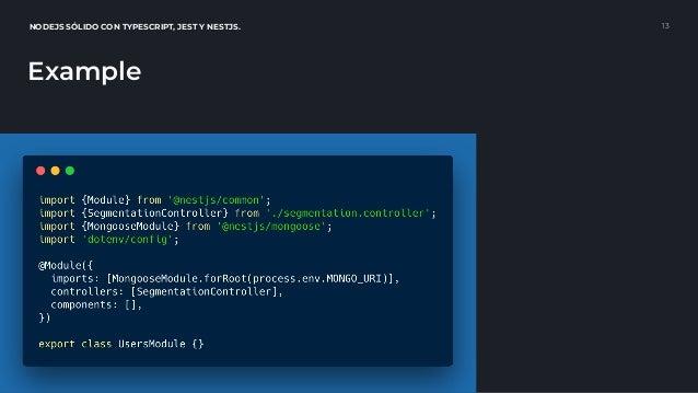 Solid NodeJS with TypeScript, Jest & NestJS