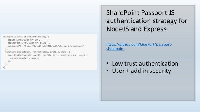 Node js to sharepoint authentication