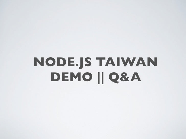 Introduce Node.js Taiwan community