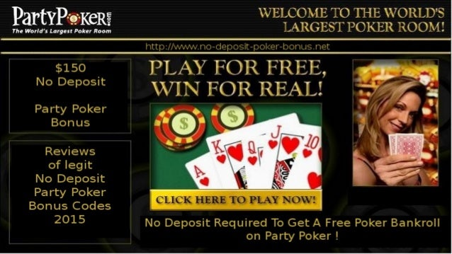 Party poker signup bonus code
