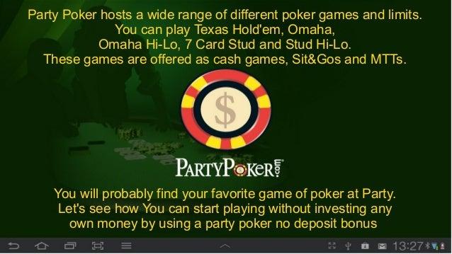 instant no deposit poker bonus