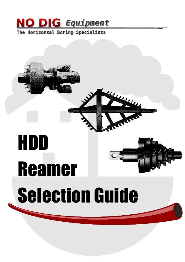 HDD Reamer Selection Guide
