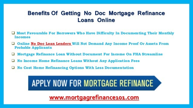 how can no doc mortgage loans work for you with low rates With no documentation mortgage