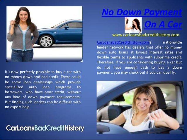 No Down Payment                                                           On A Car                                        ...