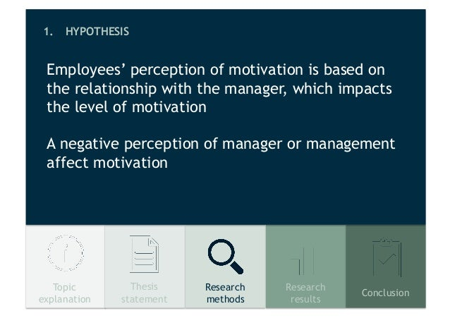 impact of motivational on employees The impact of motivation on the employee performance and job satisfaction in it park motivation impact the employee performance especially those employee who have.