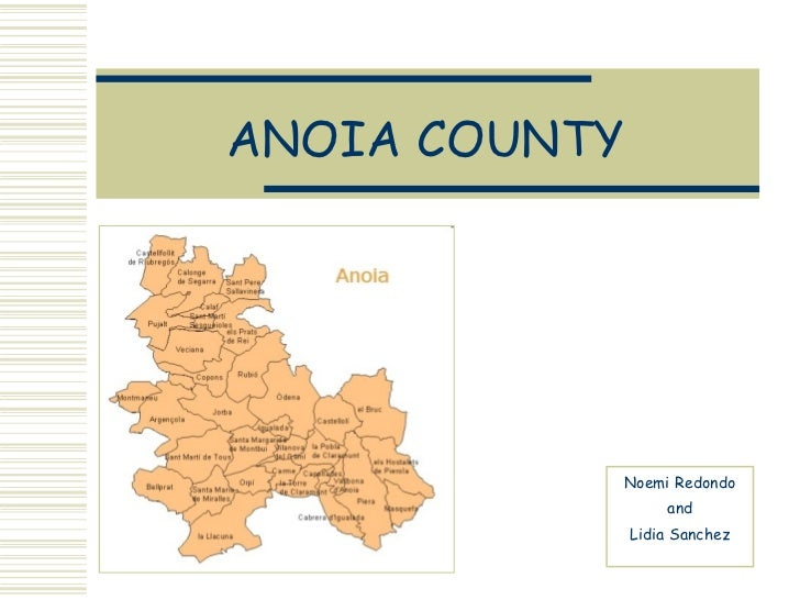ANOIA COUNTY Noemi Redondo and Lidia Sanchez