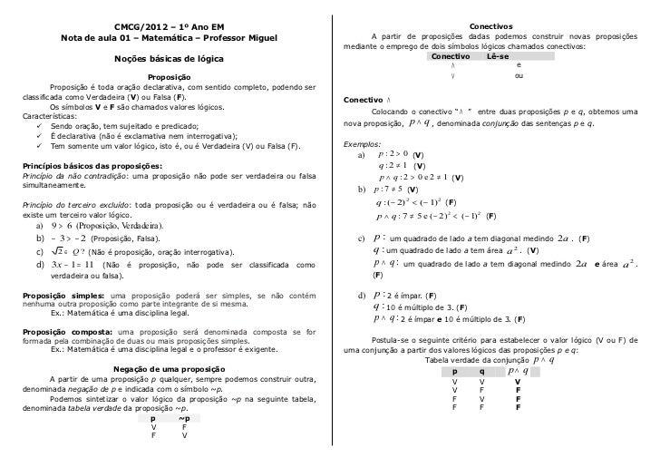 CMCG/2012 – 1º Ano EM                                                                       Conectivos           Nota de a...