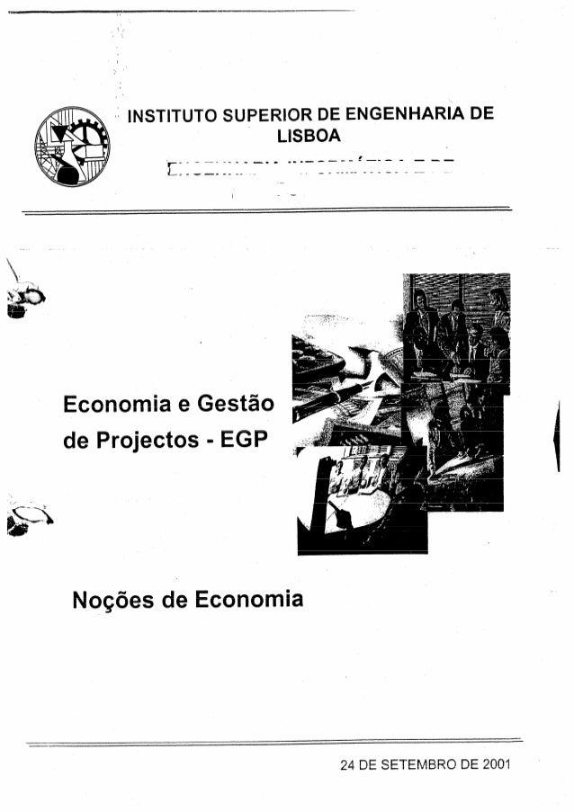 Noções de economia 1