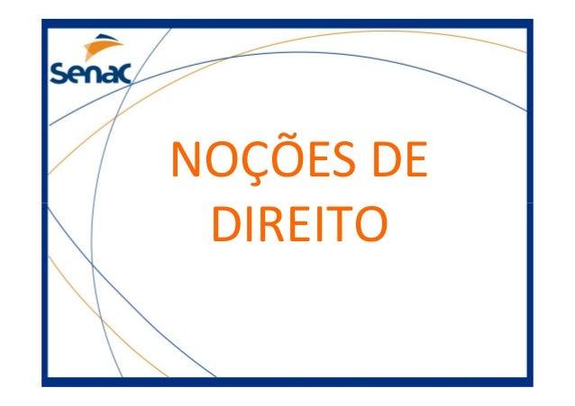NOÇÕES DE DIREITO