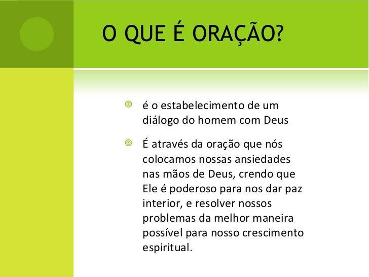 definição de oração verde