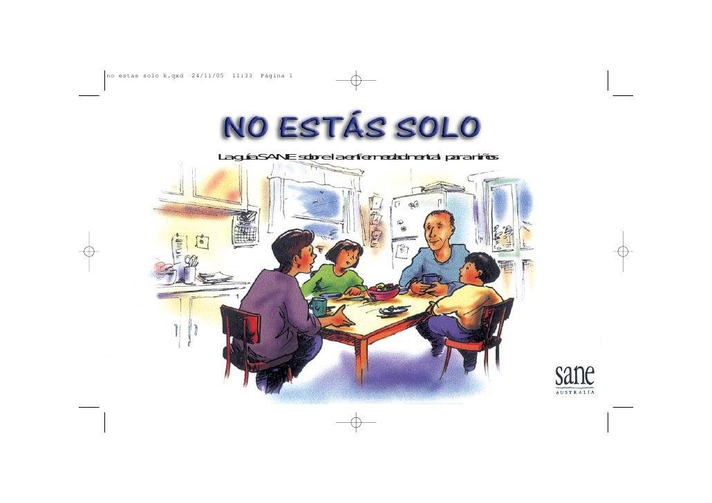 La guía SANE sobre la enfermedad mental para niños