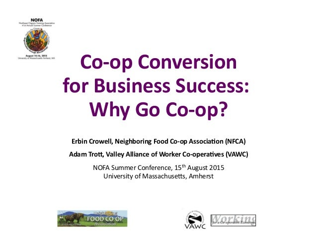 how to turn a business to co op