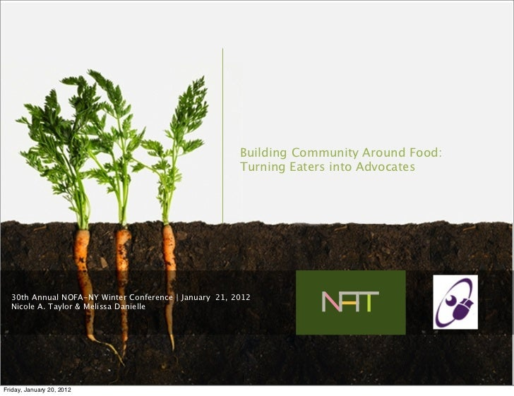 Building Community Around Food:                                                       Turning Eaters into Advocates  30th ...
