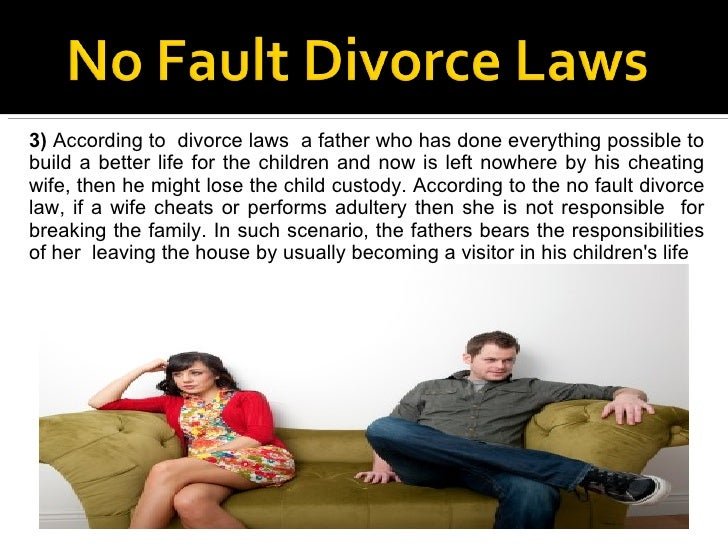 a no fault divorce essay example No-fault divorce in canada: its cause and effect no-fault divorce generally eliminates all traditional examples of how it pertains to marriage are.