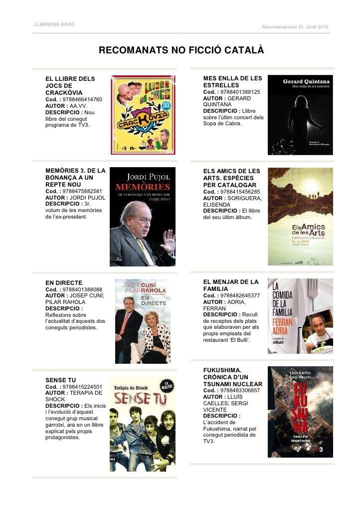 LLIBRERIA DRAC                                                                    Recomanacions St. Jordi 2012            ...