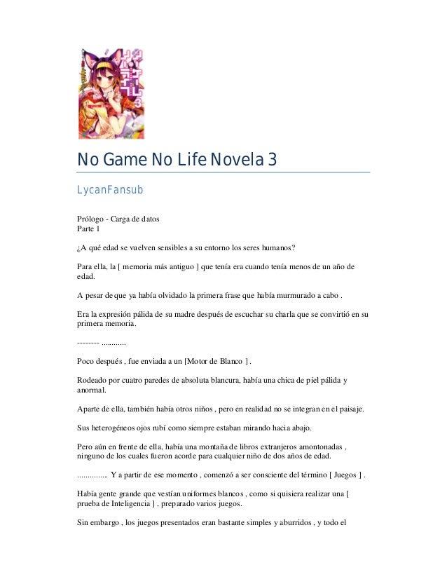 No Game No Life Novela 03