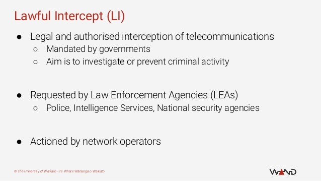 Lifting the Lid on Lawful Intercept Slide 3