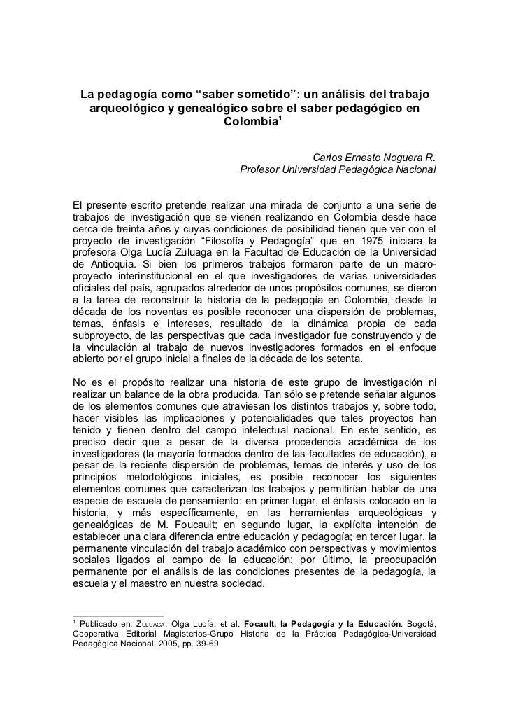 Noguera arqueologia genealogia