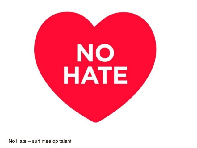 No Hate – surf mee op talent
