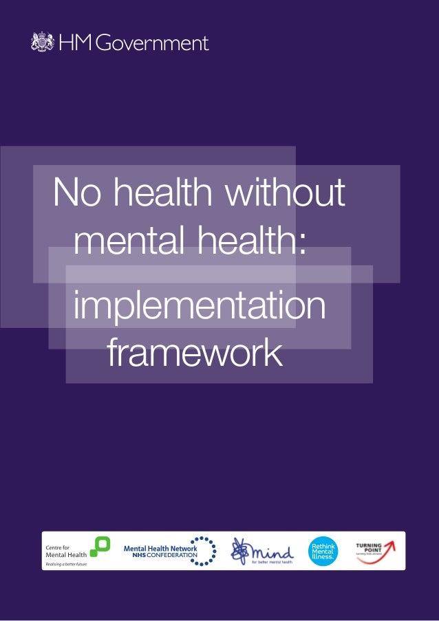 No health without mental health: implementation   framework