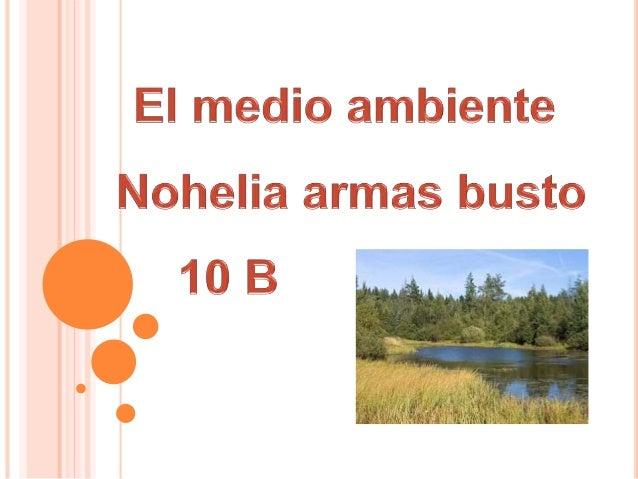 EL MEDIO AMBIENTE  El medio ambiente es el conjunto de componentes físicos, químicos, biológicos, las personas o de la so...