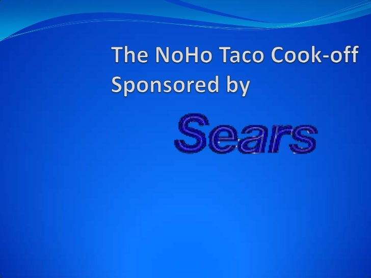 The NoHo Taco Cook-offSponsored by        <br />