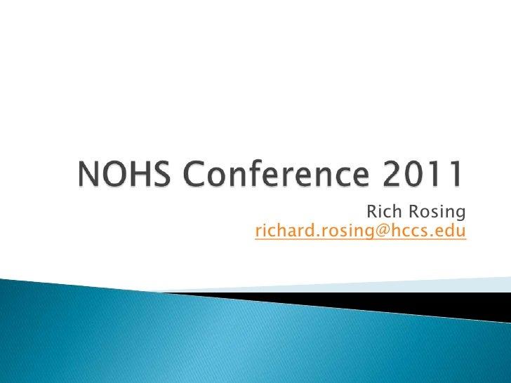 Rich Rosingrichard.rosing@hccs.edu