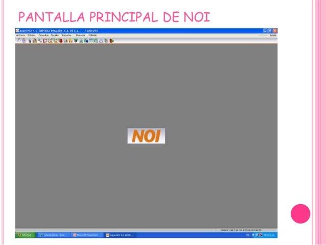 PANTALLA PRINCIPAL DE NOI