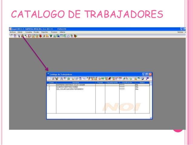 CATALOGO DE TRABAJADORES