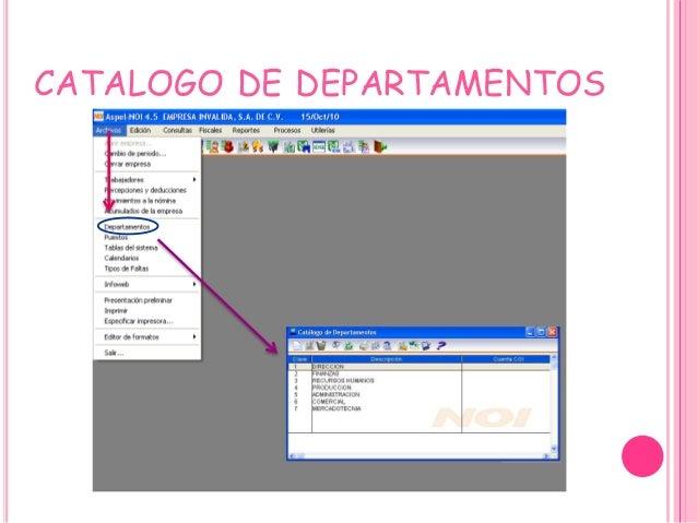 CATALOGO DE DEPARTAMENTOS