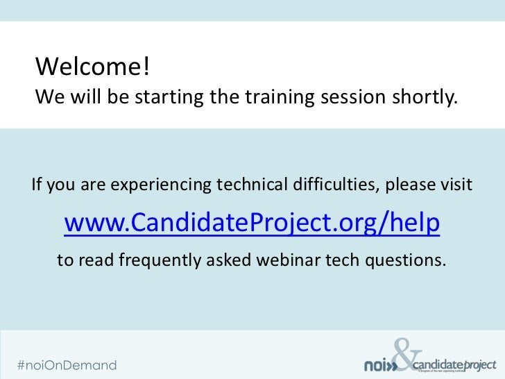 Welcome!We will be starting the training session shortly.If you are experiencing technical difficulties, please visit    w...