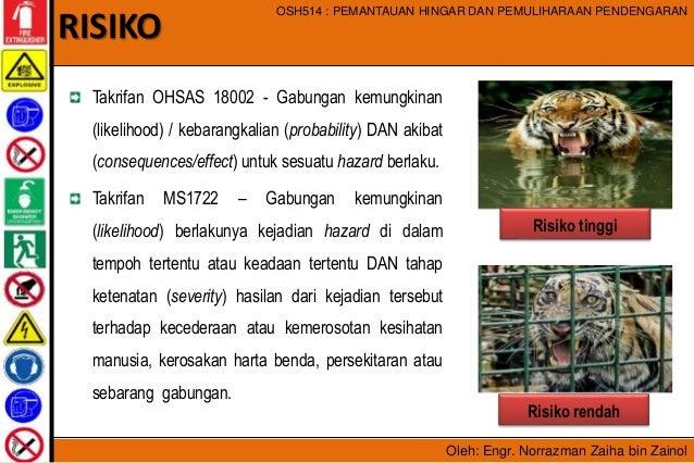 Oleh: Engr. Norrazman Zaiha bin Zainol OSH514 : PEMANTAUAN HINGAR DAN PEMULIHARAAN PENDENGARAN Takrifan OHSAS 18002 - Gabu...