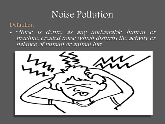 The importance of the issue of noise pollution