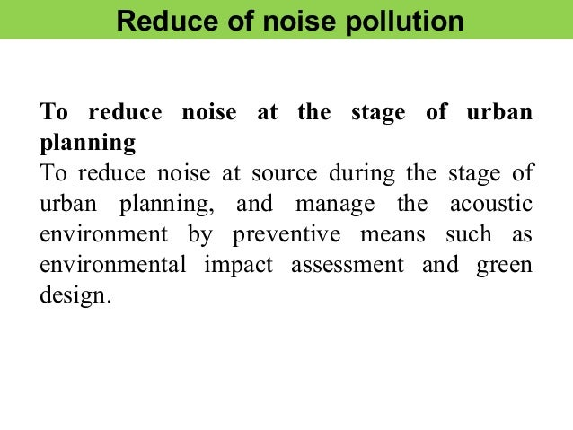 noise pollution. Black Bedroom Furniture Sets. Home Design Ideas