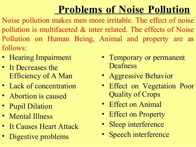 effects of noise pollution on environment pdf